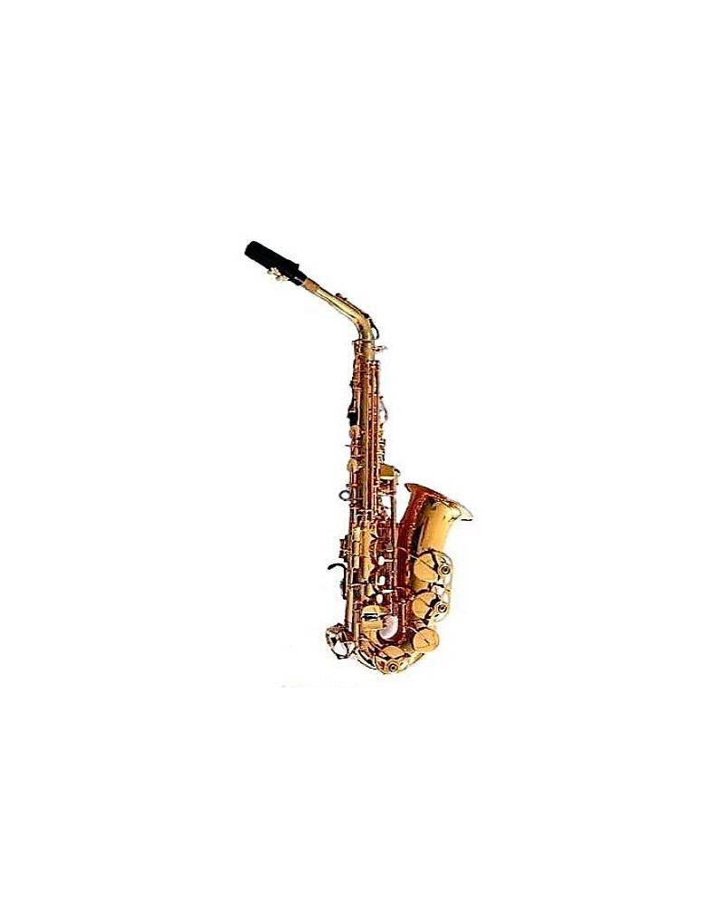Saxofon alto Mib profesional. Logan. Lacado oro