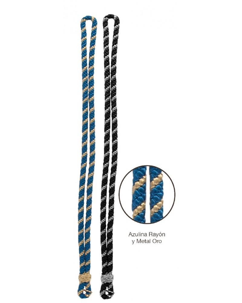 Cordón medallero, rayon metal