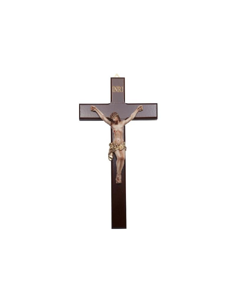 Crucifijo en madera y resina