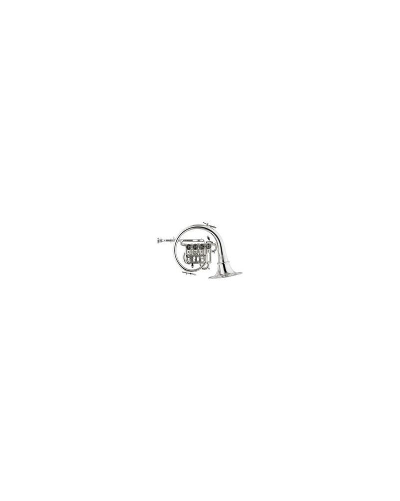 Corno da Caccia Titán Sib, laton baño de plata, Stomvi