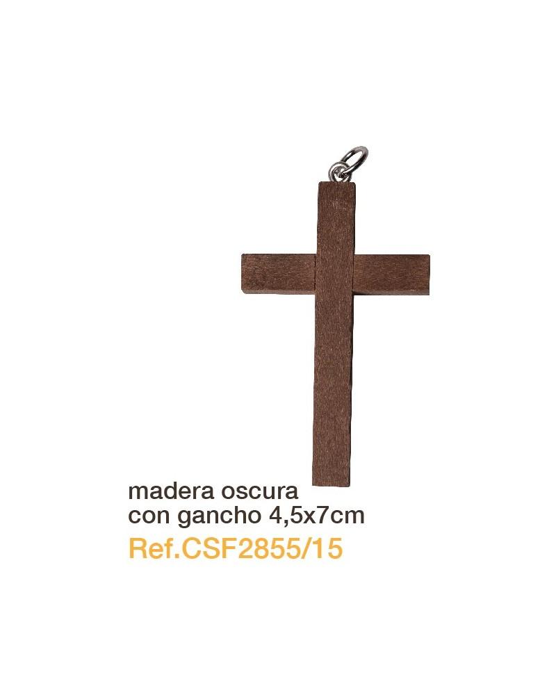 Cruz de madera oscura 4.5 x 7 primera comunión