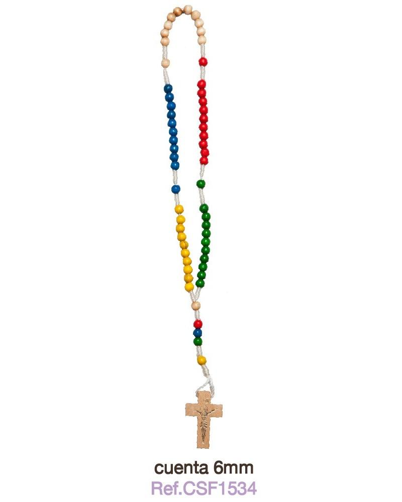 Rosario misionero colores primera comunión