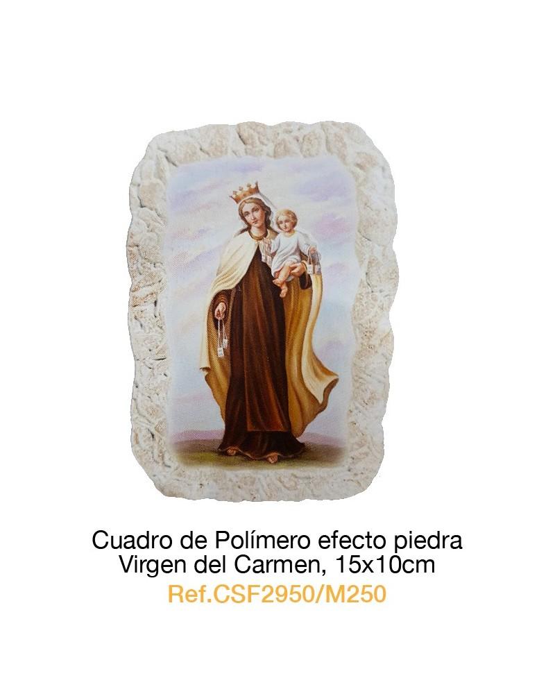 Cuadro Piedra Virgen del Carmen