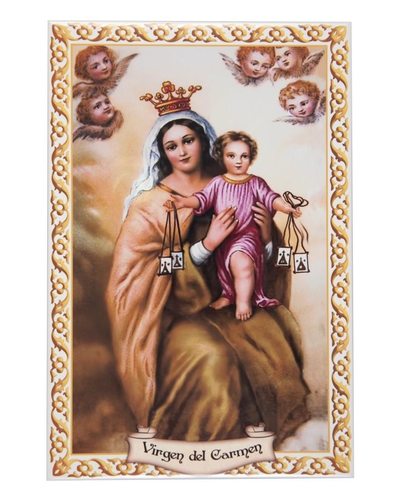 Azulejo Virgen del Carmen 20x30cm