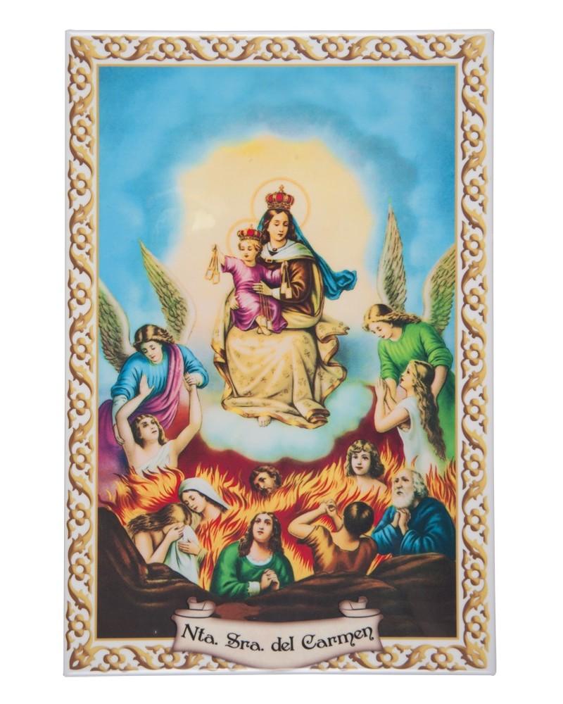 Azulejo Virgen del Carmen de Ánimas 20x30