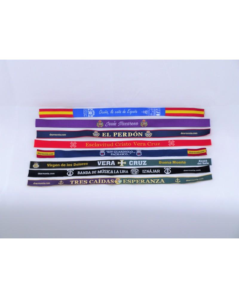 pulseras bordadas personalizadas
