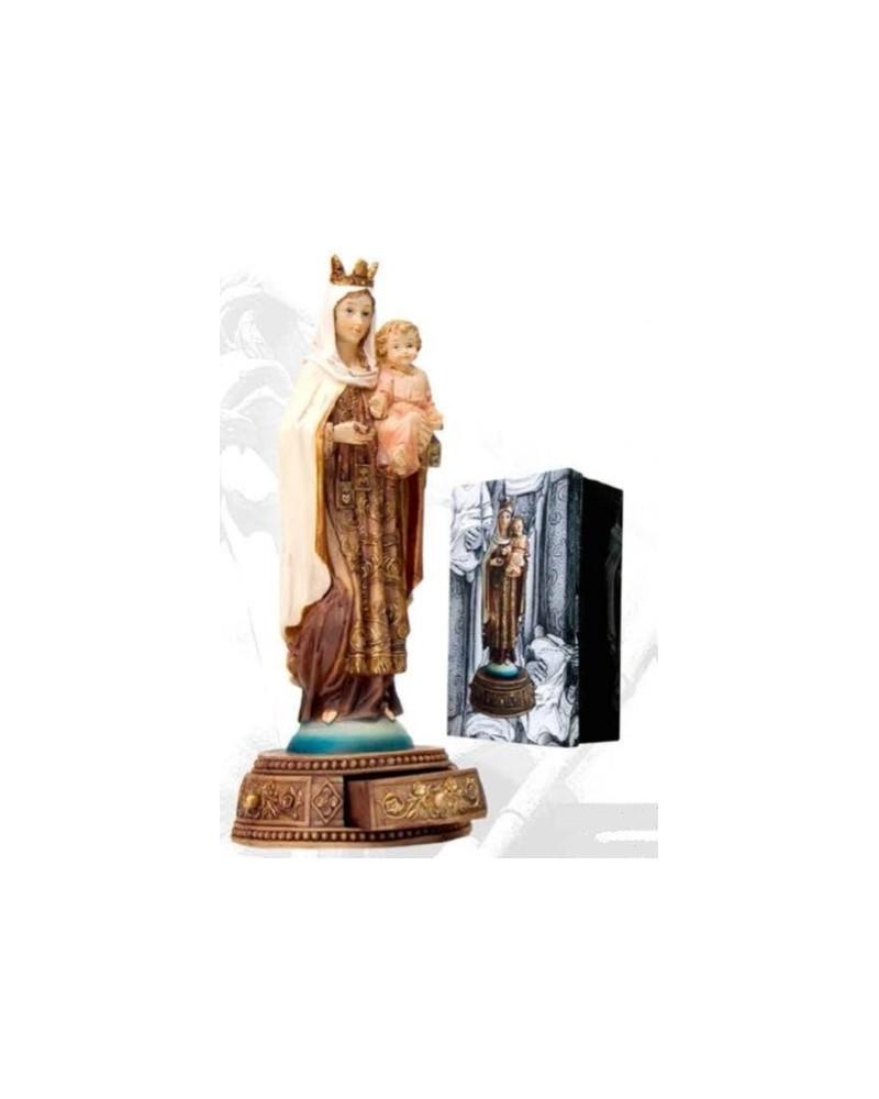 Figura Virgen del Carmen con cajón en base