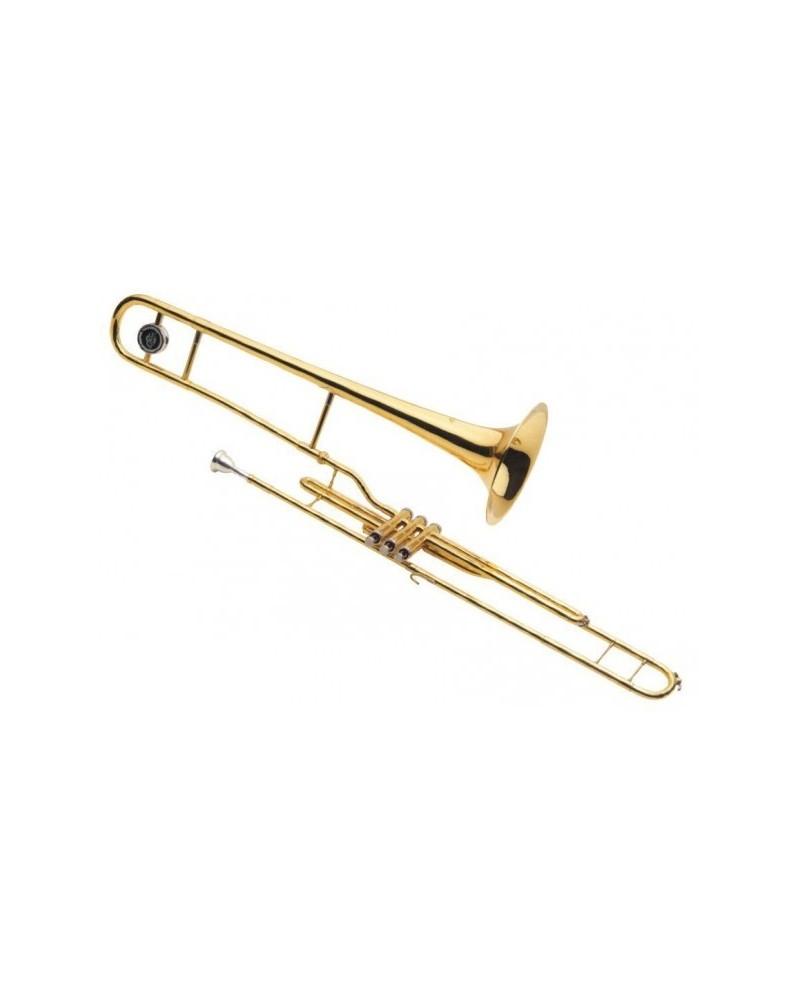 """Trombon de pistones """"J.Michael"""" 600V SI Bemol. Lacado."""