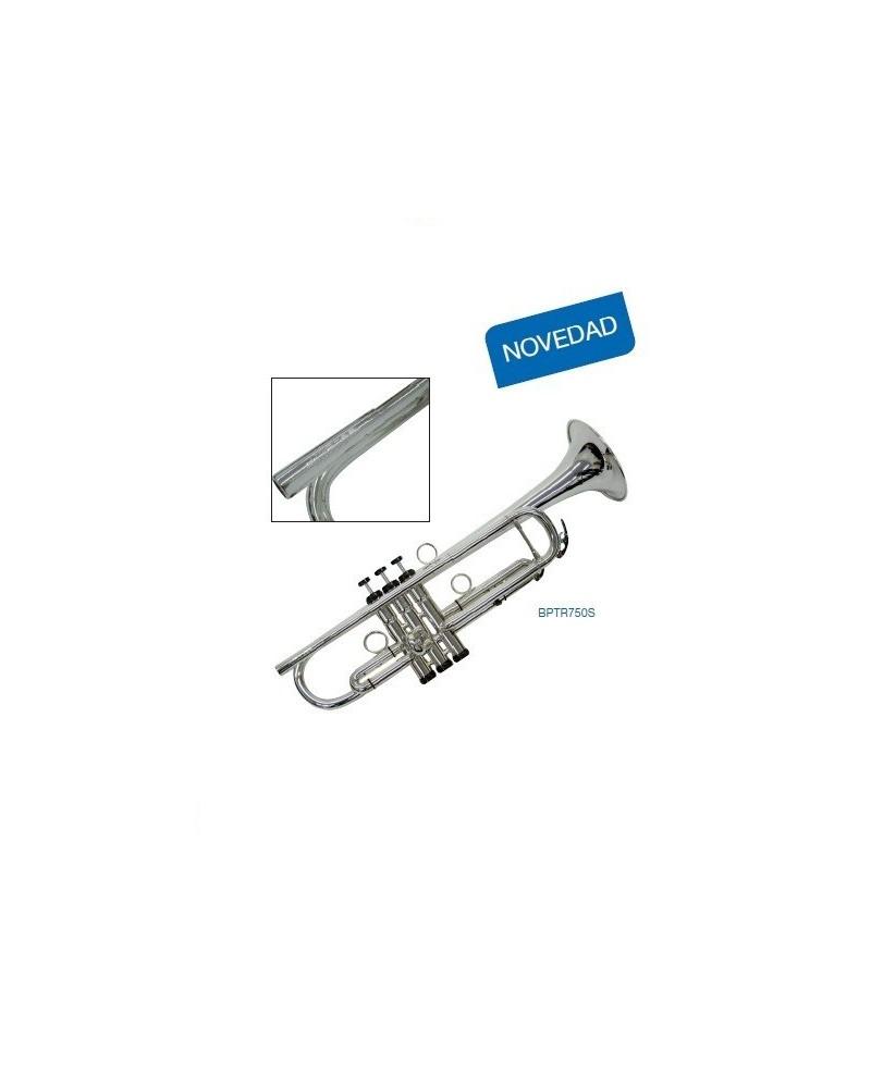"Trompeta ""J.Michael"" BPTR750S. SI Bemol. Plateada.Dearmonia.com"