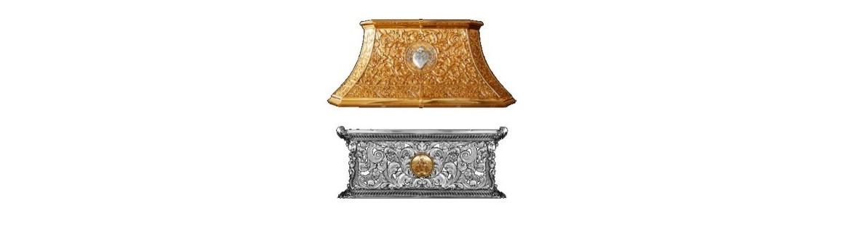 Peana para virgen o peana para cristo fabricada en madera o en metal