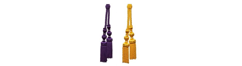 Cordones para medallas, penitentes o nazarenos de hermandad.